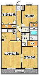 ランドロードU A棟[207号室]の間取り