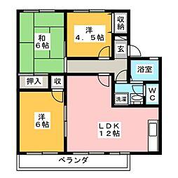セジュールさとうA[2階]の間取り