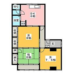 松波ビル[3階]の間取り