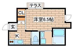 シャーメゾン桜須磨寺 1階1Kの間取り