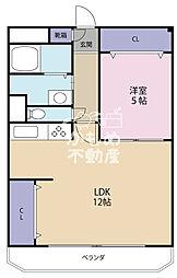 シャトー鶴ケ丘(西田辺 リノベーション)[3階]の間取り