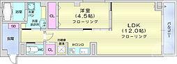 仙台市営南北線 広瀬通駅 徒歩5分の賃貸マンション 2階1LDKの間取り