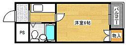 ラフォーレ千本南[1階]の間取り