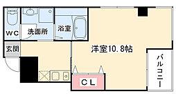 大阪府大阪市中央区南新町1丁目の賃貸マンションの間取り