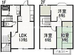 [テラスハウス] 岡山県岡山市南区妹尾丁目なし の賃貸【/】の間取り