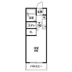 オオタマンション[105号室]の間取り