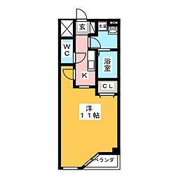 プラネット南岡崎[1階]の間取り