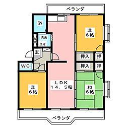 ガーデンハイツ[4階]の間取り
