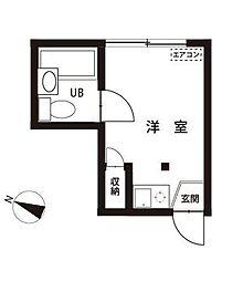 東京都板橋区仲宿の賃貸アパートの間取り