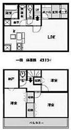 [一戸建] 神奈川県相模原市南区東大沼1丁目 の賃貸【/】の間取り