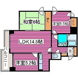 北海道札幌市東区北三十五条東16丁目の賃貸マンションの間取り