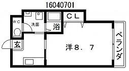 エリジオン2[1階]の間取り