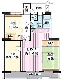 美浜東エステート2号棟[9階]の間取り