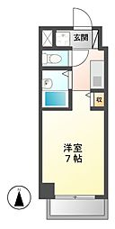 愛知県名古屋市中区上前津2丁目の賃貸マンションの間取り