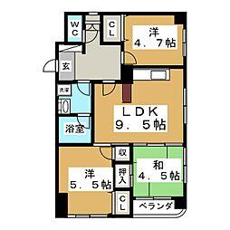 八乙女148ビル[4階]の間取り