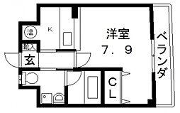 リッツ小阪[206号室号室]の間取り