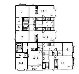豊岡1−1新築[105号室]の間取り