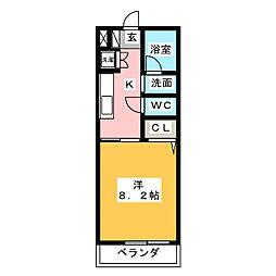 愛知県名古屋市熱田区波寄町の賃貸マンションの間取り