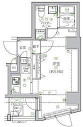 都営新宿線 菊川駅 徒歩9分の賃貸マンション 2階1Kの間取り