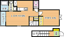 福岡県北九州市門司区柳町4丁目の賃貸アパートの間取り