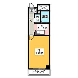 コート西浦マンション[4階]の間取り