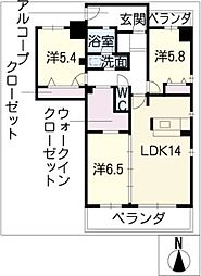 AVANTY TOKUGAWA[6階]の間取り