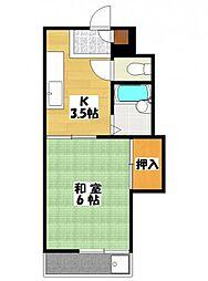 コーポAKU今泉[3階]の間取り