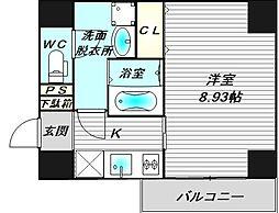 仮称)寺地町東3丁新築賃貸マンション[6階]の間取り