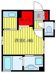 JR山手線 田端駅 徒歩10分の賃貸アパート 3階1Kの間取り