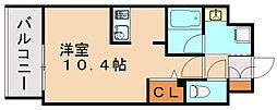 エンクレスト博多駅南シェア[9階]の間取り