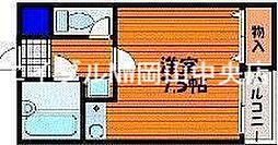 CALME栄町[4階]の間取り