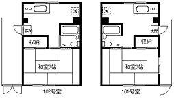IZUMI BILUDO[101-102号室]の間取り