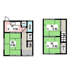 [テラスハウス] 岡山県岡山市中区西川原1丁目 の賃貸【/】の間取り