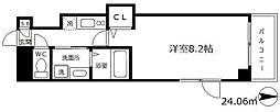 フォレスト梅田西 8階1SKの間取り