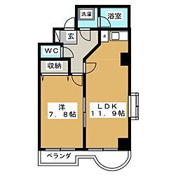ラフィナス新栄[5階]の間取り