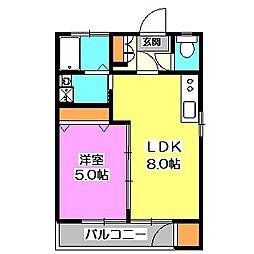 清水マンション[1階]の間取り