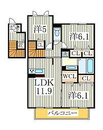 HANABUSA II[2階]の間取り