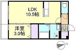 カンパーニャ・エフA棟[2階]の間取り