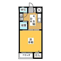 コーポ辻井II[3階]の間取り