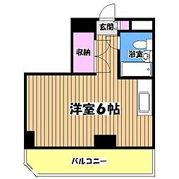 第26クリスタルマンション[7階]の間取り