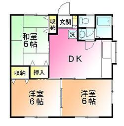 ビッグハウス金井1[1階]の間取り