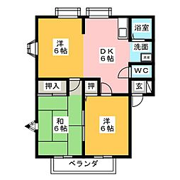MEMORIAL KAMIYA C棟[1階]の間取り