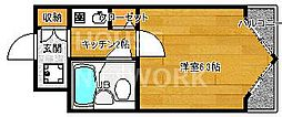 DETOM-1鴨川[211号室号室]の間取り