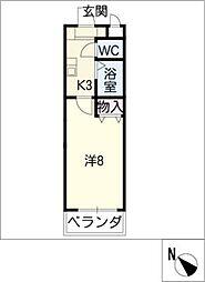 アスコット瀬戸口[1階]の間取り