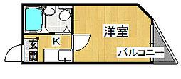 プチシャトー深野[3階]の間取り