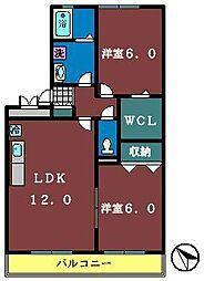 八千代台南ガーデンパレスA棟[303号室]の間取り