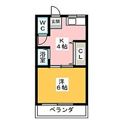 岩渕 松鶴荘[3階]の間取り