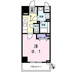 西武新宿線 西武柳沢駅 徒歩7分の賃貸マンション 5階1Kの間取り