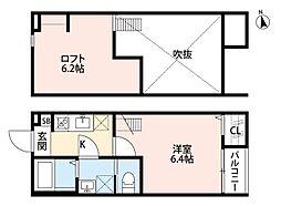 CASA MIYASHITA(カーサ ミヤシタ)[203号室]の間取り