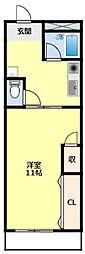 名鉄豊田線 浄水駅 4.8kmの賃貸マンション 4階1Kの間取り